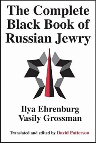 The Complete Black Book of Russian Jewry: Ilya Ehrenburg
