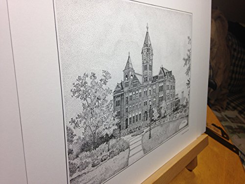 Auburn Samford Hall pen and ink 11''x14'' print by Campus Scenes (Image #6)