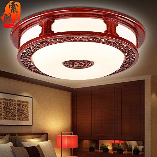 BLYC- Chinesischen Stil Decke Lampe Fernbedienung verstellbar Farbe führte Runde Wohnzimmer minimalistisches Schlafzimmer Lampe Restaurant Studie Lampe 430mm