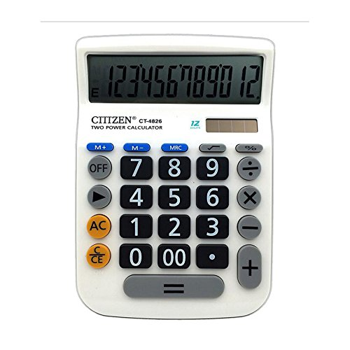 Calculator,12-Digits Solar Battery Button Battery Dual Two Way Power Large Display Standard Office Finacial Desktop Calculators … by e-cholife (Image #7)