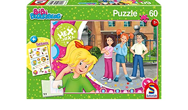 2f938cbef3b13 Amazon.com: Schmidt Spiele Puzzle 56322 Bibi Blocksberg 60 Pieces  Children's Puzzle Multi-Coloured: Toys & Games