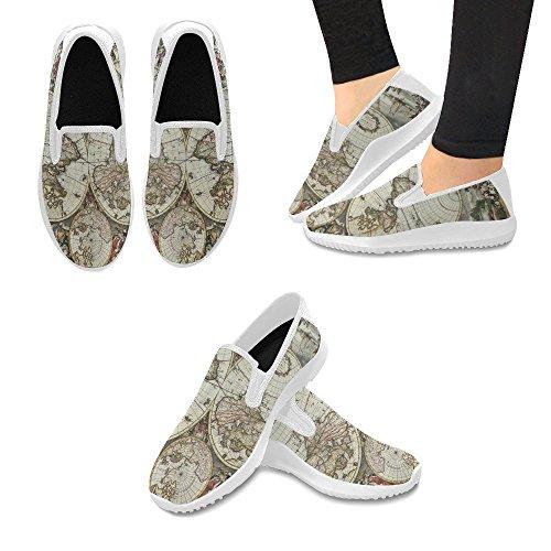 Mocassino Slip-on Donna Interestprint Scarpe Da Ginnastica In Tela Multi Moda 7