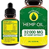 Hemp Oil Drops 32 000 mg, Co2 Extracted, Made in USA, Help Reduce Stress, Anxiety and Pain, 100% Natural Ingredients, Vegan Friendly, GMO Free