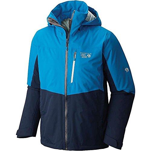 Mountain Hardwear Men's South Chute Jacket, Black, Dark Compass, Hardwear Navy, 2XL