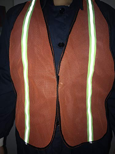 SIFE High Visibility Reflective Safety Vest with 1 Inch Reflective Strips,Made from Breathable and Neon Orange Mesh Fabric,Universal Size,10 pack by SIFE (Image #7)