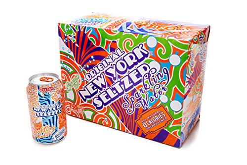 Original New York Seltzer Sparkling Water, Orange, 12-Count 12-Ounce Cans (Pack of 2)