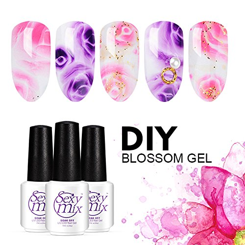 Sexy Mix Halo Blossom Gel Polish Soak off UV LED Nail Gel Magic Blooming Color Beautiful Flower Nail Art 024 OZ