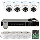 GW Security VD4CH4C150SDI 4-Channel Plug and Play DVR 2.1MP HD-SDI Complete Security Package