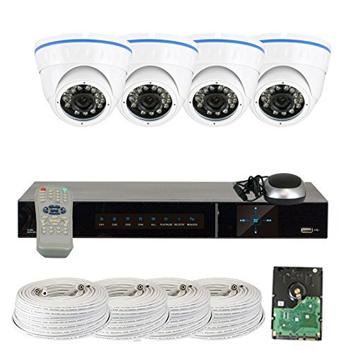 - GW Security VD4CH4C150SDI 4-Channel Plug and Play DVR 2.1MP HD-SDI Complete Security Package