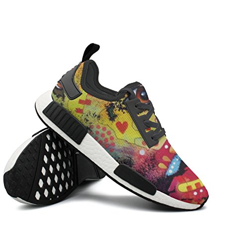 Price comparison product image CVOIREWKLL A Dog Wags Its Tail With Its Heart Breathable Classic Stylish Print Canvas Shoes