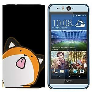 Cubierta protectora del caso de Shell Plástico || HTC Desire Eye ( M910x ) || Minimalista Fox lindo @XPTECH