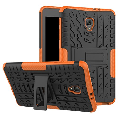 Tab A 8.0 T380 Case DWaybox Hybrid Rugged Heavy Duty Hard Back Case Cover with Kickstand for Samsung Galaxy Tab A 8.0 2017 SM-T380/T385 / Samsung Tab A2 S 2017 (Orange)
