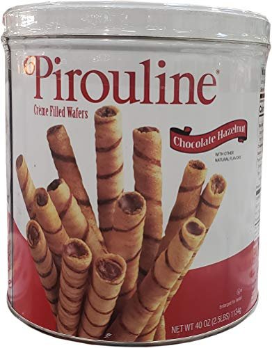 Wafer Cookie Filled - Pirouline Crème Filled Wafers Chocolate Hazelnut, 40 Ounce
