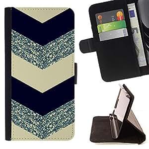 Momo Phone Case / Flip Funda de Cuero Case Cover - Glitter Silver Black - Samsung Galaxy J3 GSM-J300