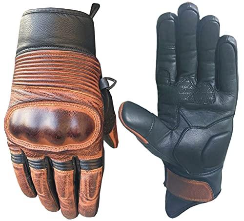 AAA Goat Skin Premium-Qualität Motorrad-Handschuhe für Männer und Frauen-Extra schützende, sichere und langlebige…