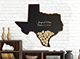 Texas Wedding Guest Book, State, Drop Box with Wooden Hearts, Guestbook Alternative