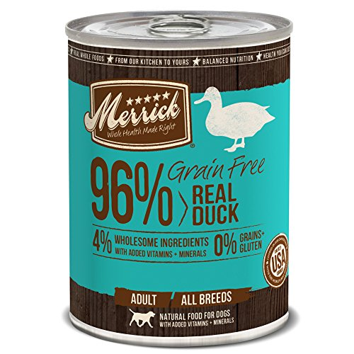 Merrick Grain Free 13.2-Ounce Real Duck Dog Food, 12 Count Case