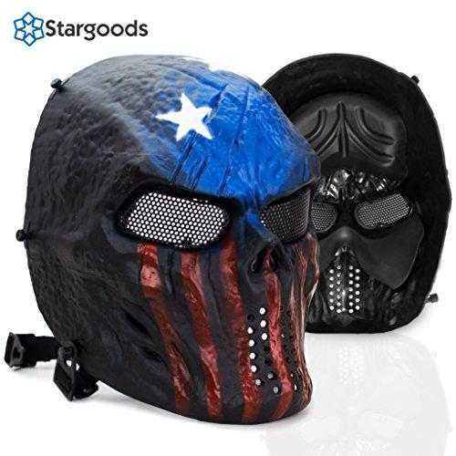 Stargoods Skeleton AirSoft Tactical Mask - Metal Mesh Paintball, BB Gun & CS Games - (Best Predator Mask)