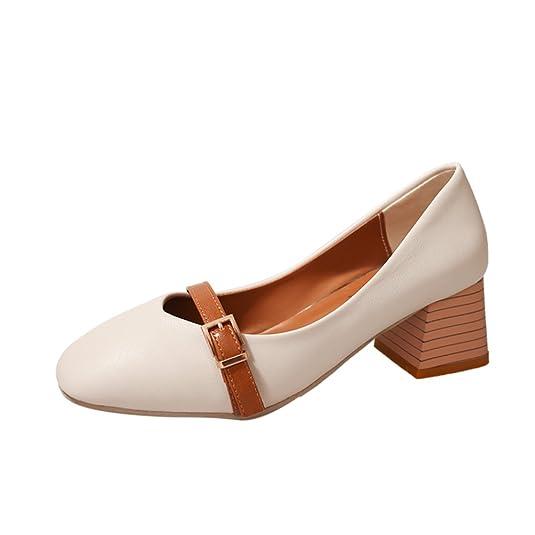 Koreanische Version Der Dicken Ferse Mit Dem Flachen Mund Schuhe,Fang Agb  Oma Schuhe,Profi Hundert Women's Shoes: Amazon.de: Schuhe & Handtaschen