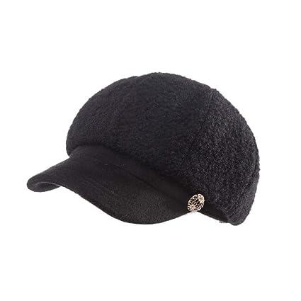 Boina Sombrero De Pintor De Color Sólido De Las Mujeres Primavera Y Otoño  Invierno Sombrero De 0e45d76bd09