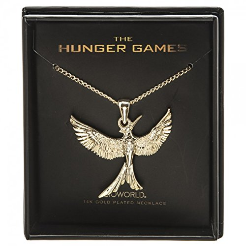 Hunger Games 14K Gold Plated Mockingjay Boxed Necklace