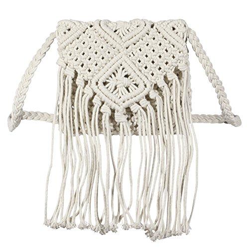 I-MART Women Crochet Fringed Messenger Bags...
