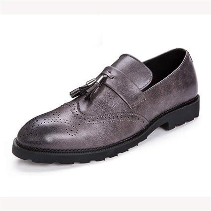 Ofgcfbvxd Mocasines Planos Casuales para Hombres Moda Oxford, cómodo, bajo clásico, con Flecos