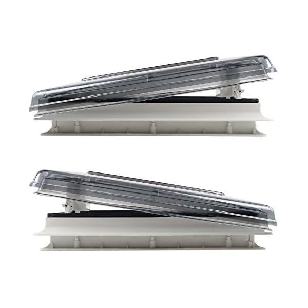 51bb5KONOSL Fiamma Dachfenster Vent 50 Chrystal, 50 cm x 50 cm AuschnittmaàŸ + Deklain Dichtmittel + Schrauben