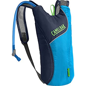 CamelBak Kids Skeeter Crux Reservoir Hydration Pack, Atomic Blue/Navy Blazer, 1.5 L/50 oz