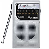 AM/FM Battery Operated Portable Pocket Radio - Best Reception and Longest Lasting. AM FM Compact Transistor Radios...
