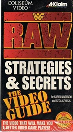 Amazon com: WWF Raw Strategies:Video Guide [VHS]: Movies & TV