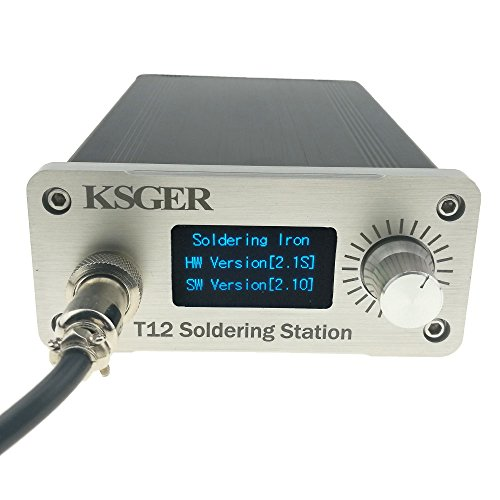 KSGER T12 Soldering Station DIY Kits STM32 V2.1S OLED 1.3 Display Temperature Controller Electronic Welding Iron Tips Aluminum Alloy Handle Case US Plug Power Equipments
