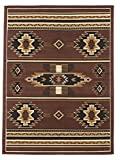 Rugs 4 Less Collection Southwest Native American Indian Area Rug Design R4L SW3 in Brown Chocolate (8'x10')