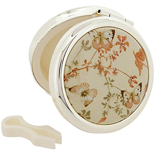 Stratton Pill Box Ladies Heritage Collection Butterfly Design Travel Pill Case Plus Tongues (Stratton Compact)