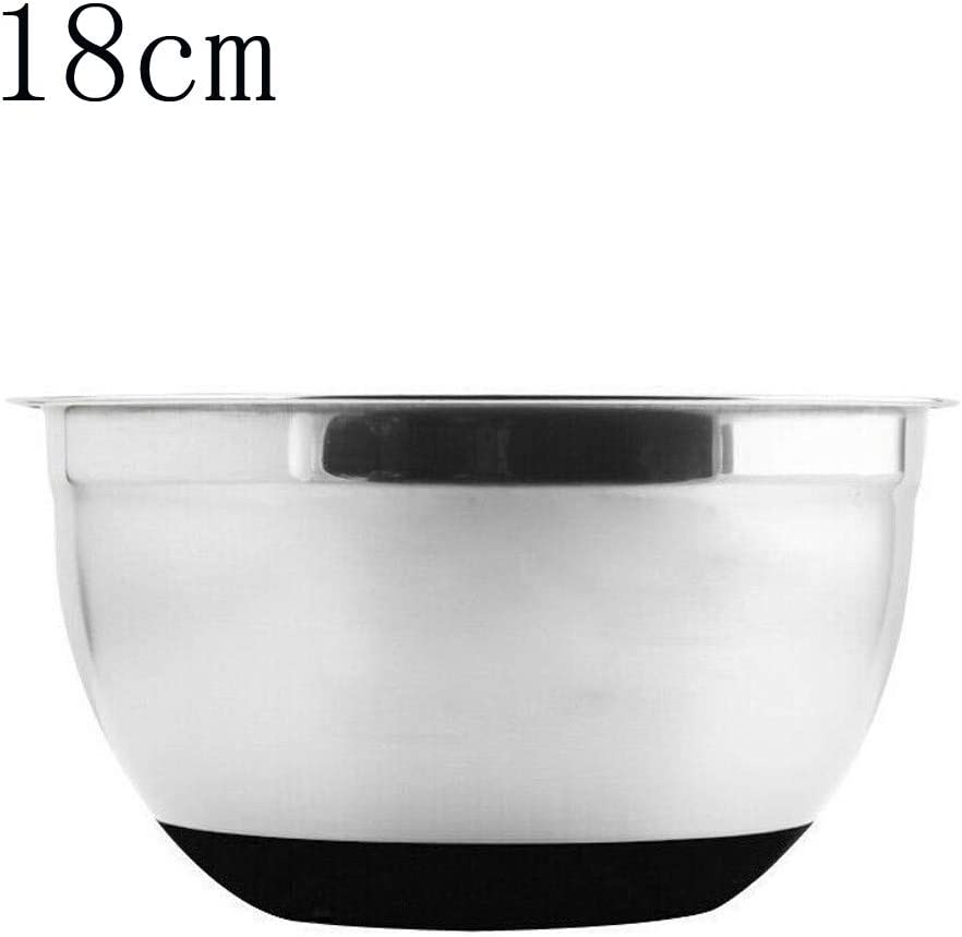Nesee Stainless Steel Mixing Bowls,Non Slip Colorful Silicone Bottom Nesting Storage Bowls Polished Mirror Finish for Healthy Meal Mixing and Prepping