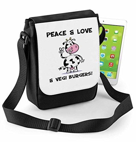 or Vegetarian Burgers Digital Bag Compatible Tablet Ipad Mini amp; Reporter Love Vegi Peace wUFxYqAw