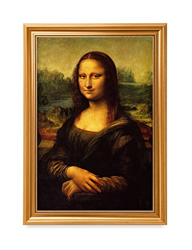 DECORARTS - Mona Lisa by Leonardo Davinci. The World Classic Art Reproductions. Giclee Print with Matching Art Frame, 16x24, Finished Size: 20x28 -