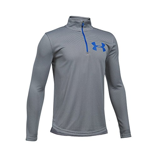 Under Armour Boys' Tech Textured ¼ Zip, Graphite/Ultra Blue, Youth X-Large