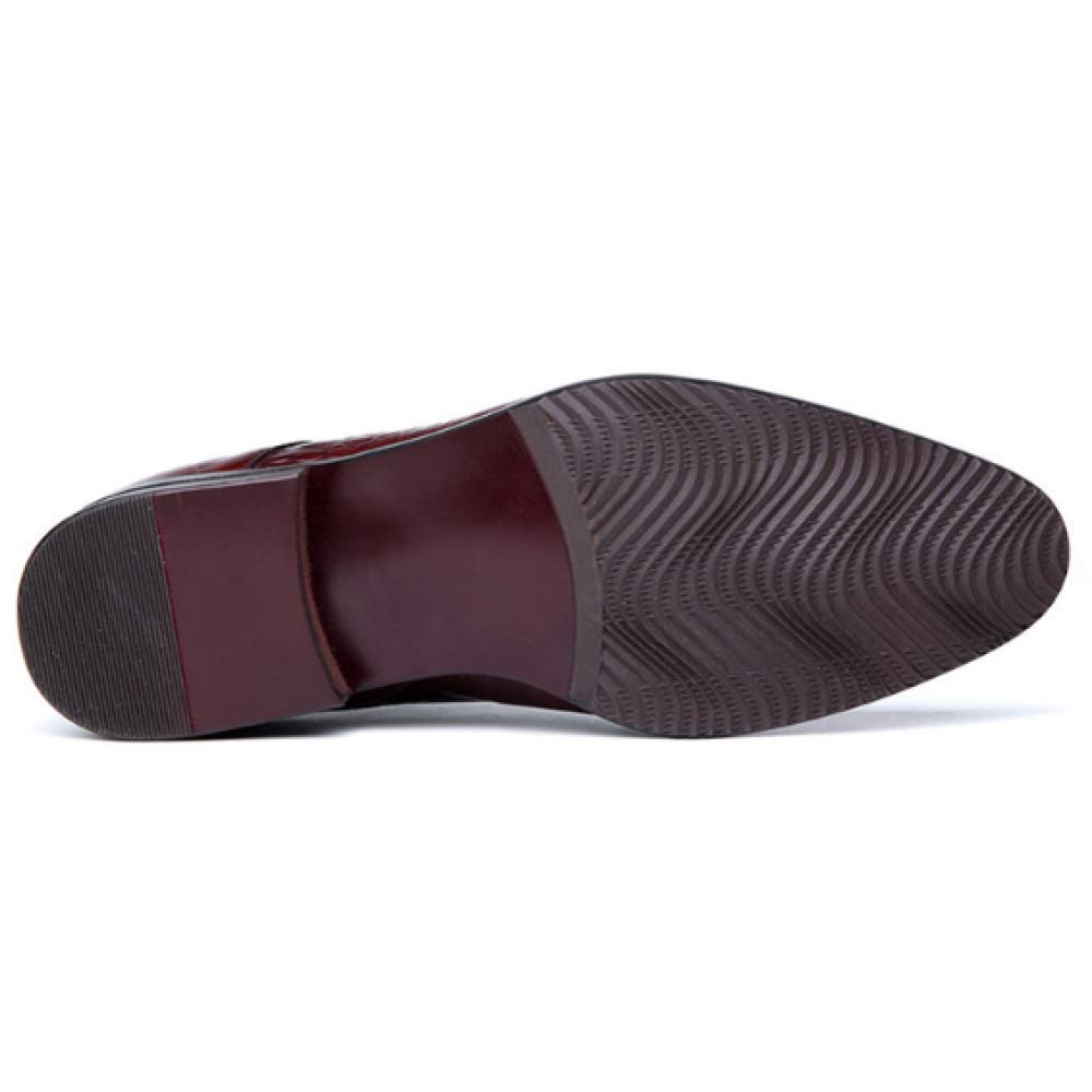 YCGCM Herrenschuhe Crocodile Crocodile Crocodile Pattern Lace Fashion Atmungsaktive Niedrig Top Schuhe Trend WineROT 6a4925
