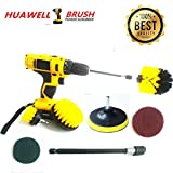 7 Piece Drill Scrub Kit Grout Brush Drill Brush Set with 6 Inch Extender Scrub Brush for Grout Floor Tub Shower Tile Corners Bathroom Surface Kitchen