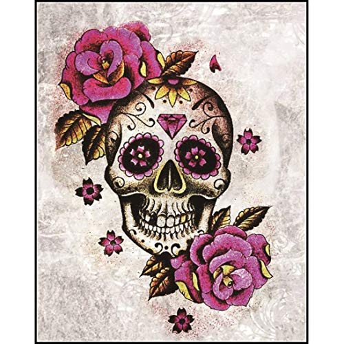 Diamond Painting Kits For Adults,BYTWO DIY 5D Halloween skull Diamond Painting Arts Craft Crystal Rhinestone Diamond For Living Room Home Decor (C) -