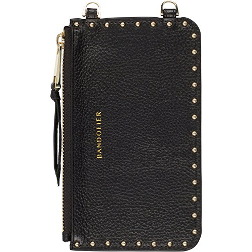 Bandolier [Nicole] Leather Pouch - Black with Gold Accent - Compatible with All Bandolier Phone Cases
