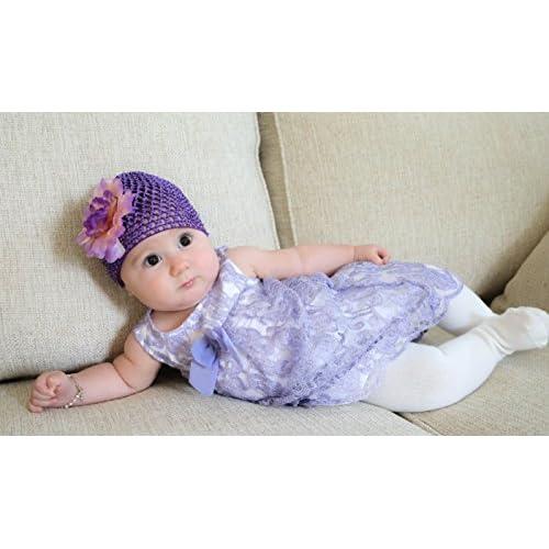 bd8dfc9e840 Pack de 6 bonnets pour bébé mixte – Bonnet multicolore violet