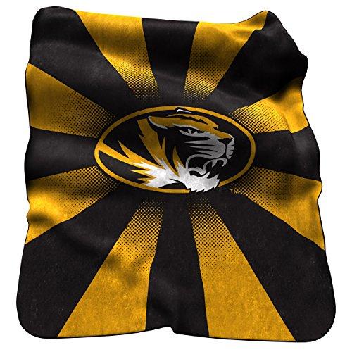 Logo Brands NCAA Missouri Tigers Raschel Throw Blanket