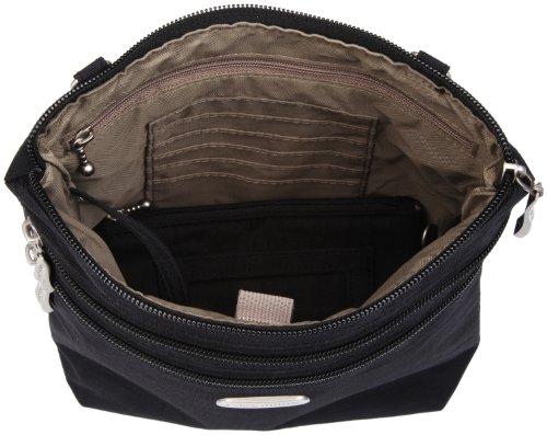 Baggallini Black Nero Messenger Borsa Bag Zipper black xznr4pxwA