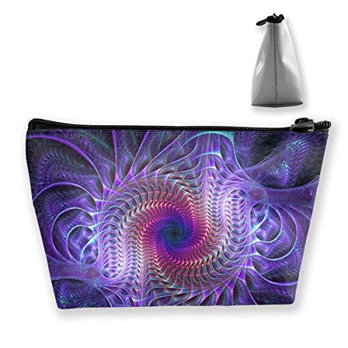 (Purple Psychedelic Trippy Art Pencil Case Bag Zipper Bag Coin Bag Makeup Bag Pouch Storage Bags Large Capacity Pen Holders for Children School Kids Boys Girls Women)