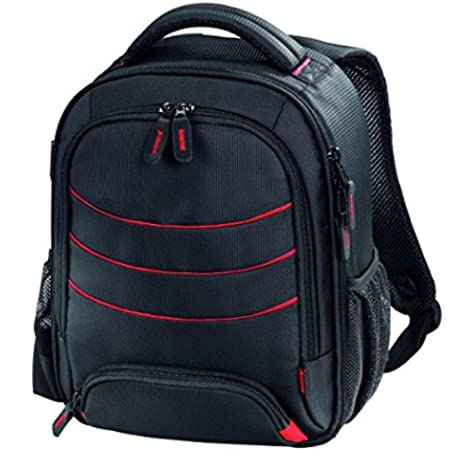 Hama Miami - Funda (Funda Tipo Mochila, Compartimento del portátil, Negro, Rojo): Amazon.es: Electrónica