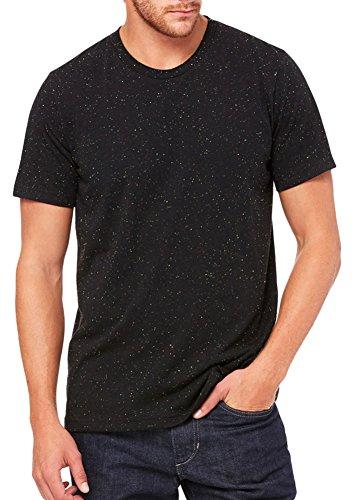 Black Speckled - Bella + Canvas Unisex Poly-Cotton Short-Sleeve T-Shirt (3650)- BLACK SPECKLED,L