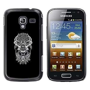 LECELL--Funda protectora / Cubierta / Piel For Samsung Galaxy Ace 2 -- Modelo tribal Sueño del lobo del hombre lobo --