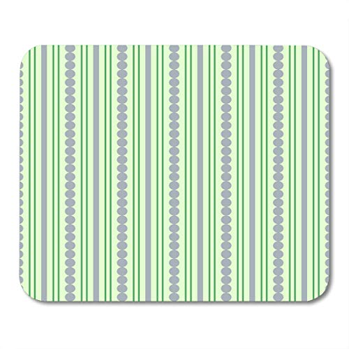 Boszina Mouse Pads Circle Blue Vertical Green Pattern with Lines Abstract Color Mouse Pad for notebooks,Desktop Computers mats 9.5